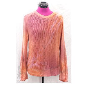 Cashmere & Wool Tie Dye Open Knit Shredded Sweater